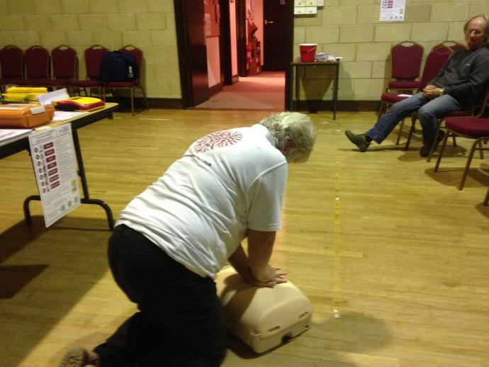 CPR training in action