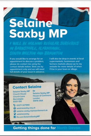 Poster for Selaine Saxby